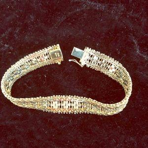 Jewelry - 14 kt overlay sterling silver weave bracelet